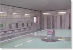 大泉寮の大浴場