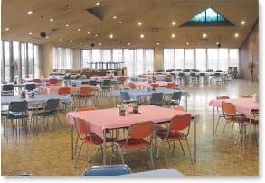 大泉寮の食堂
